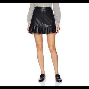 BB Dakota Vegan Leather Veni Vidi Vici Mini Skirt